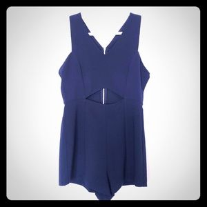 NWT Forever21 Navy Romper with Cutout